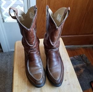 Double H Mens Cowboy Boots Almond Toe Leather